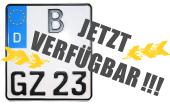 Neue kleine Motorradkennzeichen